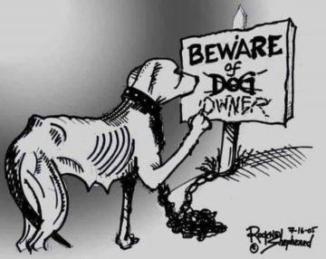 Vorsicht vor Haltern von Kettenhunden !